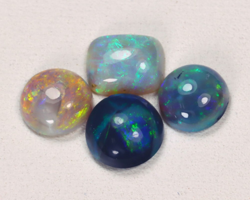 2.01Cts Lightning idge Black & Semi black  Opals  CCC 2273