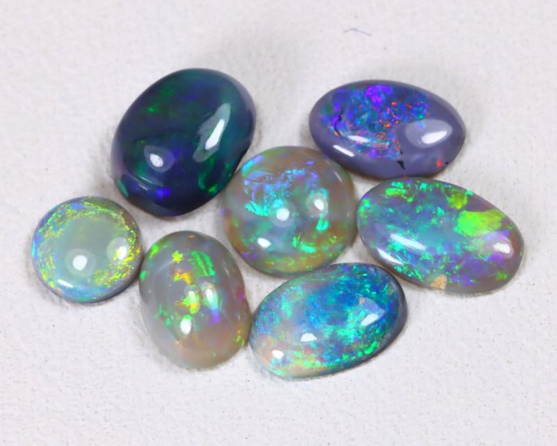 2.20Cts Lightning idge Black & Semi black  Opals  CCC 2274