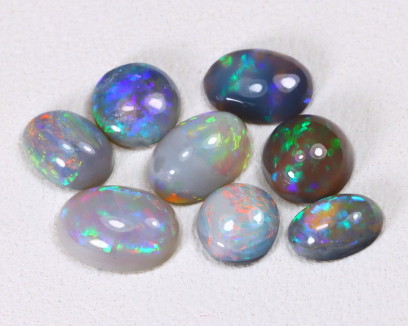 2.32Cts Lightning idge Black & Semi black  Opals  CCC 2278