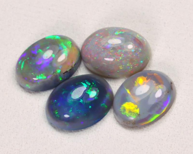 2.29Cts Lightning idge Black & Semi black  Opals  CCC 2283