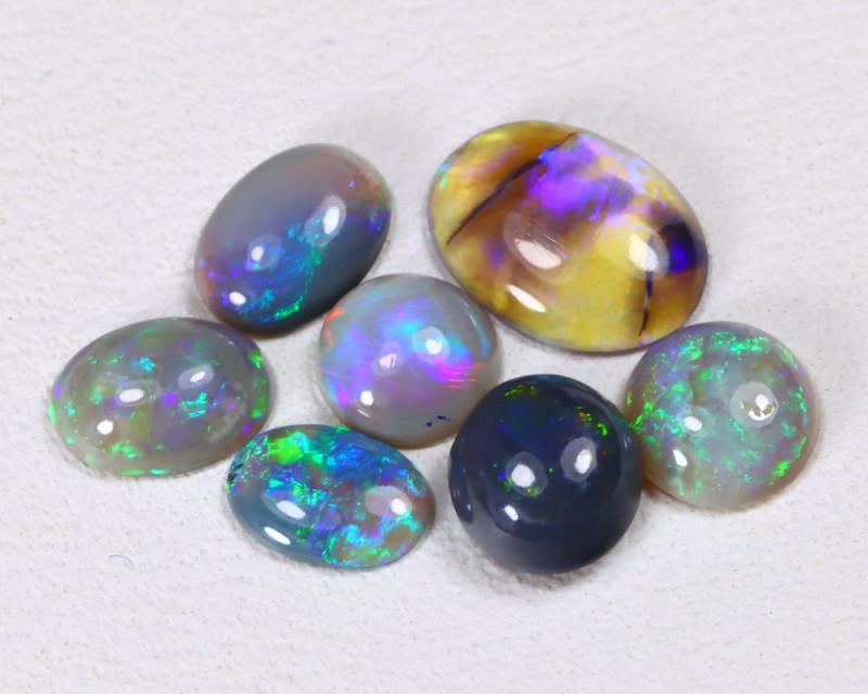 2.10Cts Lightning idge Black & Semi black  Opals  CCC 2286