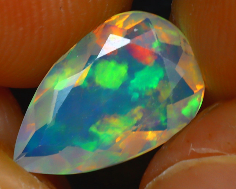 Welo Opal 1.27Ct Natural Ethiopian Play of Color Opal HR178/A44