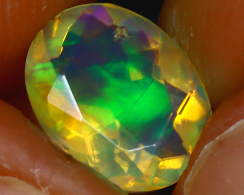 Welo Opal 1.28Ct Natural Ethiopian Play of Color Opal HR179/A44