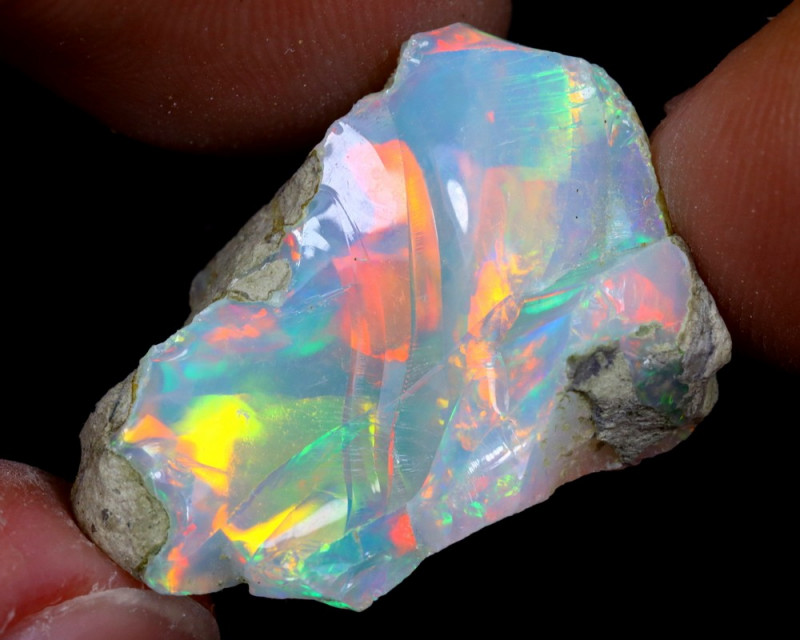 19cts Natural Ethiopian Welo Rough Opal / WR6982