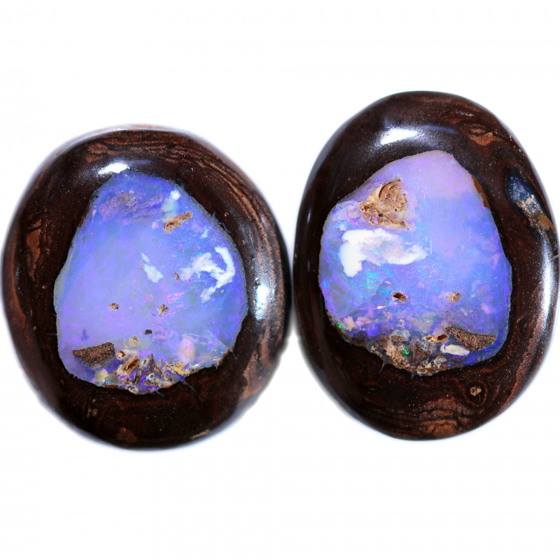 43.00 CTS BOULDER KOROIT OPAL PAIR - WELL POLISHED [BMB907]