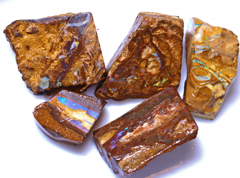 99.12 Carats Wood Fossil Opal Rough Parcel ANO-1615