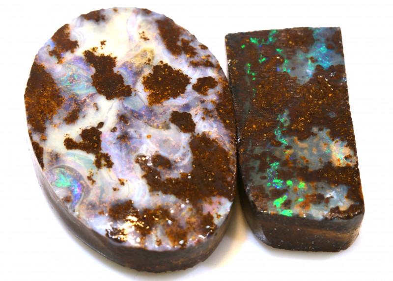 54.80cts boulder opal rub parcel ado-8096