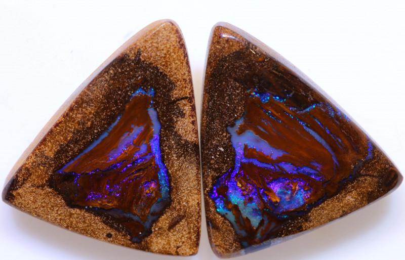 26.30cts Yowah Opal Polished Pair AOH-244