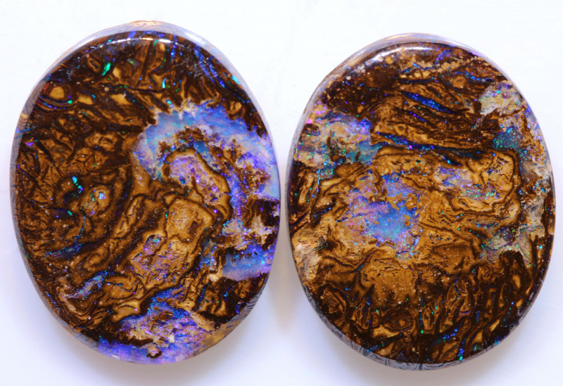 Yowah Boulder Opal Double Facing Pair AOH-  australianopalhunter