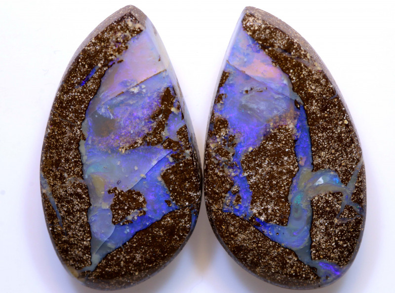 53.25cts Boulder Opal Polished Pair AOH-248