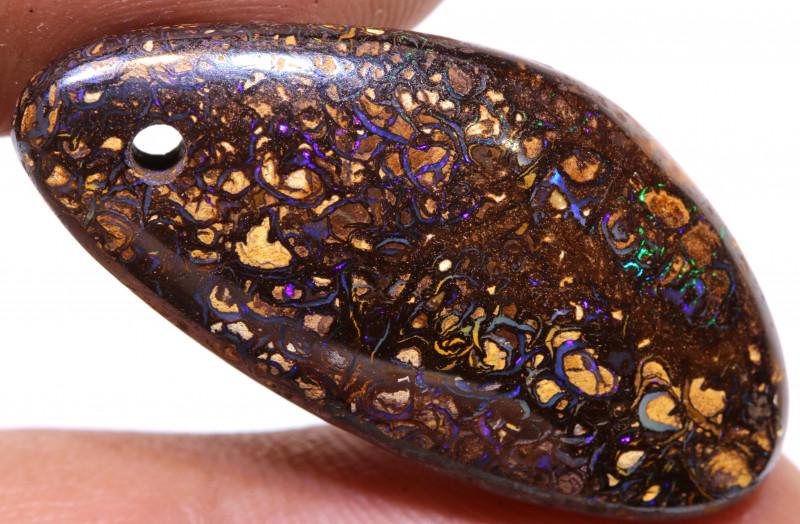 Koroit Boulder Opal drilled  AOH-266 - australianopalhunter