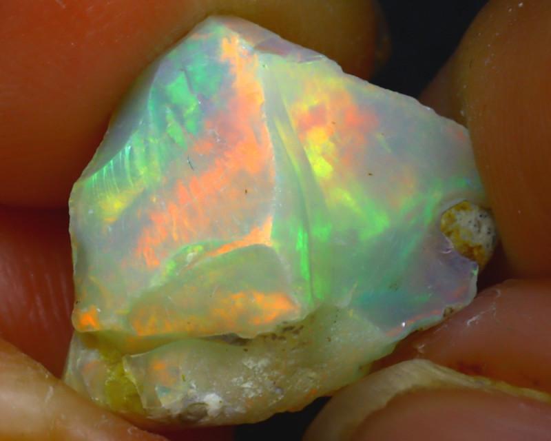8.08Ct Multi Color Play Ethiopian Welo Opal Rough HF0523/R2