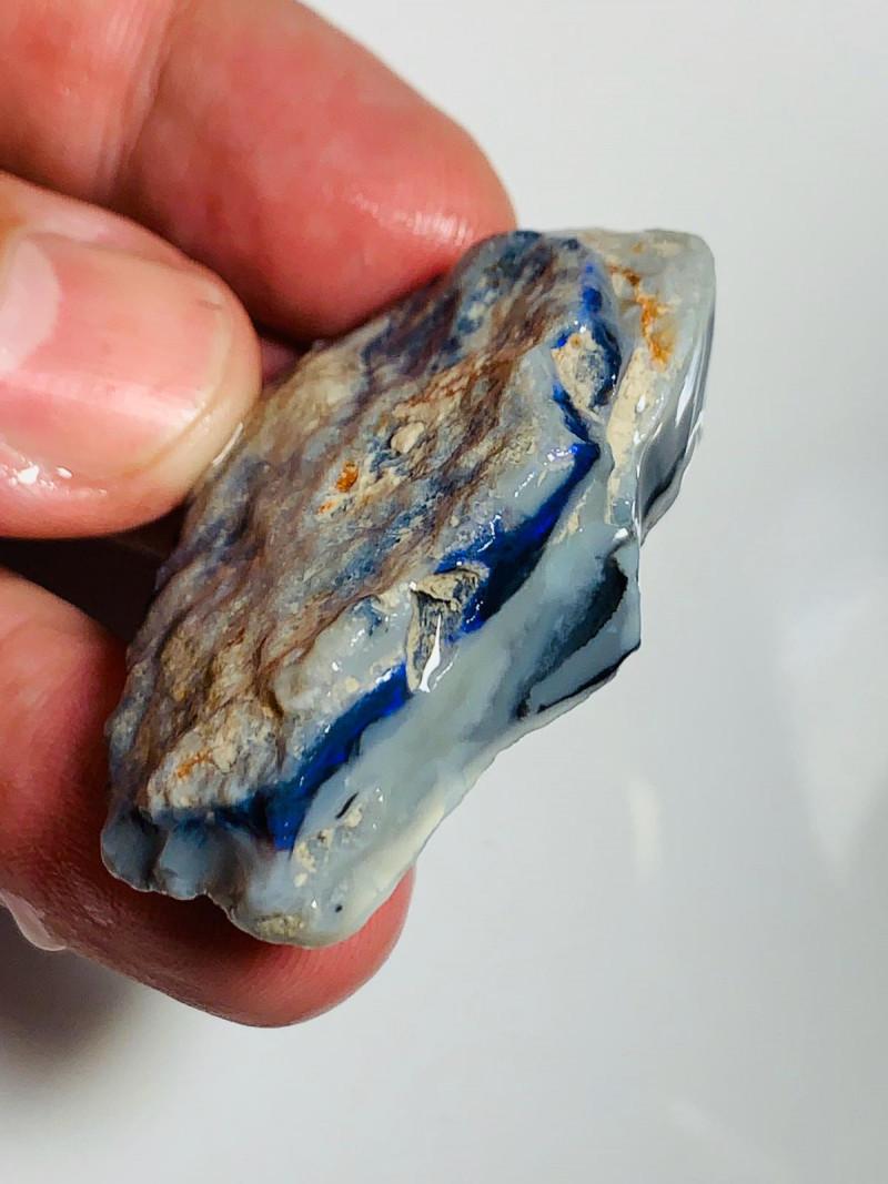 Big/ Huge Black Seam with Blue Colour Bar to Cut & Carve (Grey Potch but Bl