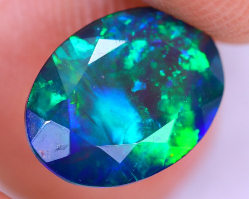 1.46cts Natural Ethiopian Welo Faceted Smoked Opal / NY2016