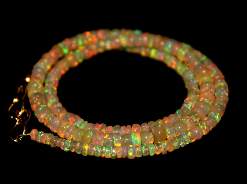 32 Crts Natural Ethiopian Welo Opal Beads Necklace 550