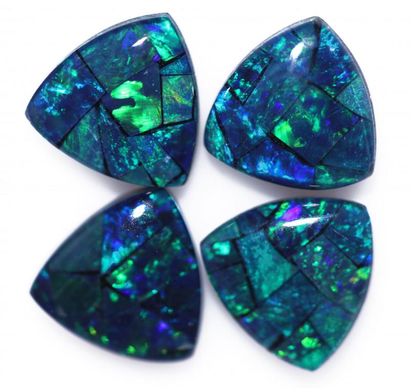 3 Cts  Tri Australian Opal Triplet Mosaic     CCC 3232