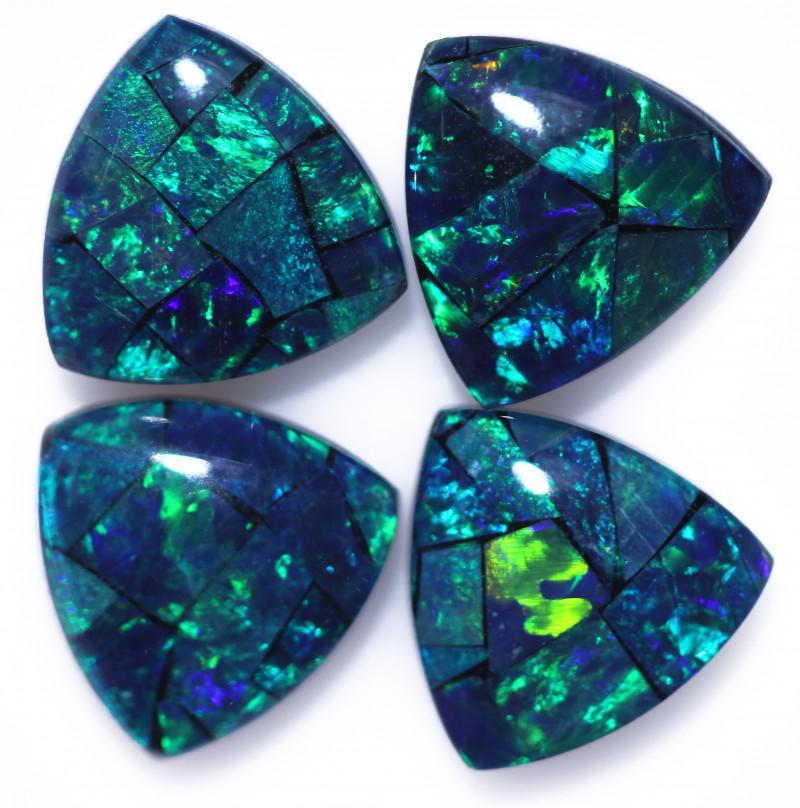 3 Cts  Tri Australian Opal Triplet Mosaic     CCC 3233