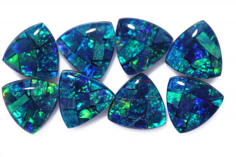 6 Cts  Tri Australian Opal Triplet Mosaic     CCC 3144