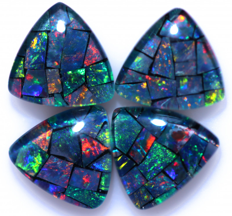 4.2 Cts  Tri Australian Opal Triplet Mosaic     CCC 3162