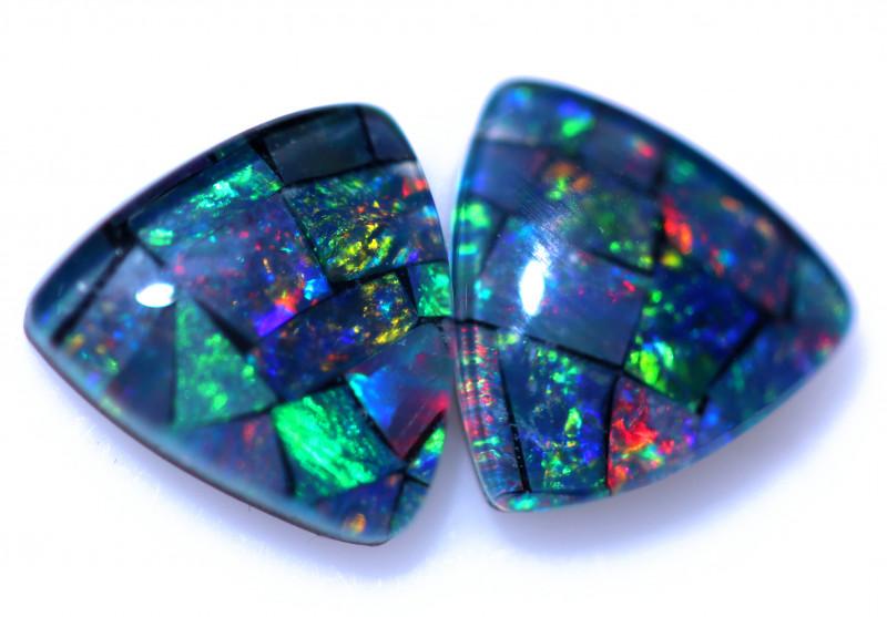 2.30 Cts  Tri Australian Opal Triplet Mosaic     CCC 3166