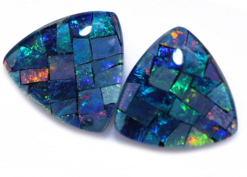 4.00 Cts  Tri Australian Opal Triplet Mosaic     CCC 3174