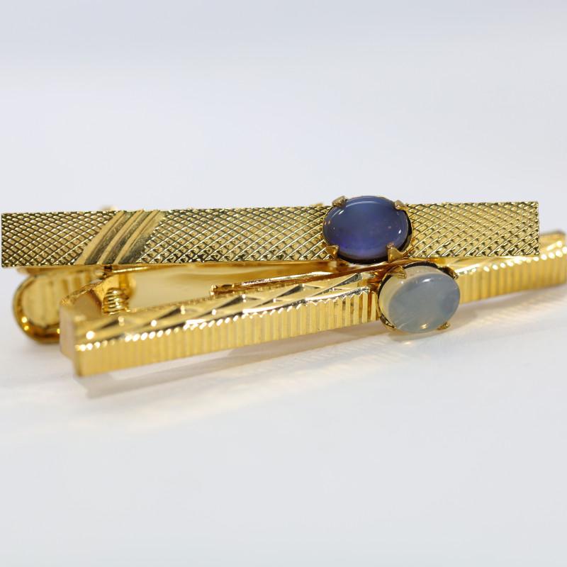 Opal Triplet  Tie Clips FT23