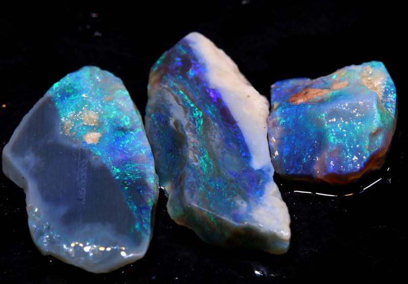 12.05cts lightning ridge  opal rough parcel  ado-8344