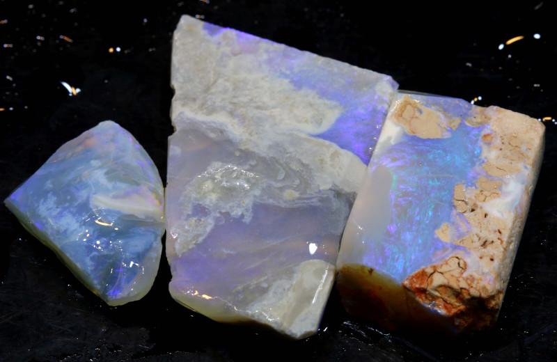 73.45cts lightning ridge  opal rough parcel  ado-8350