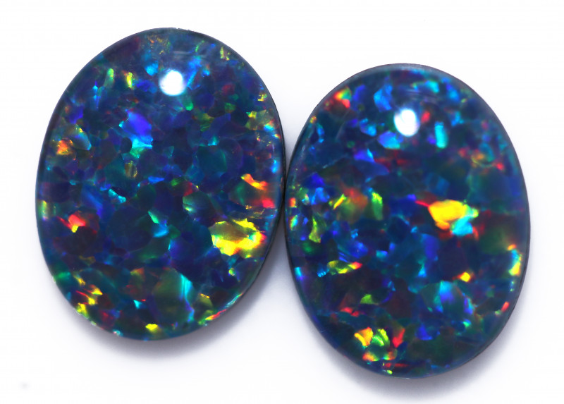 2.40 Cts Australian Triplet Opals Pairs CCC 3252