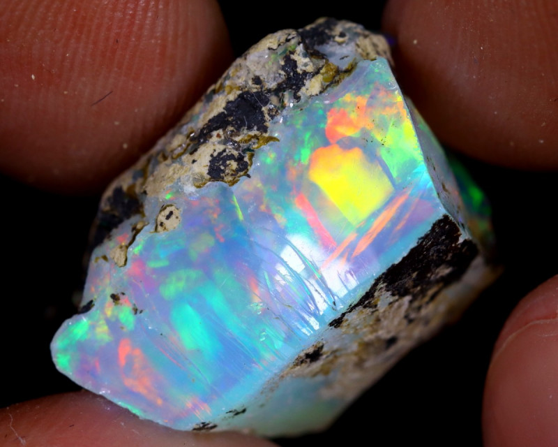 18cts Natural Ethiopian Welo Rough Opal / WR7185