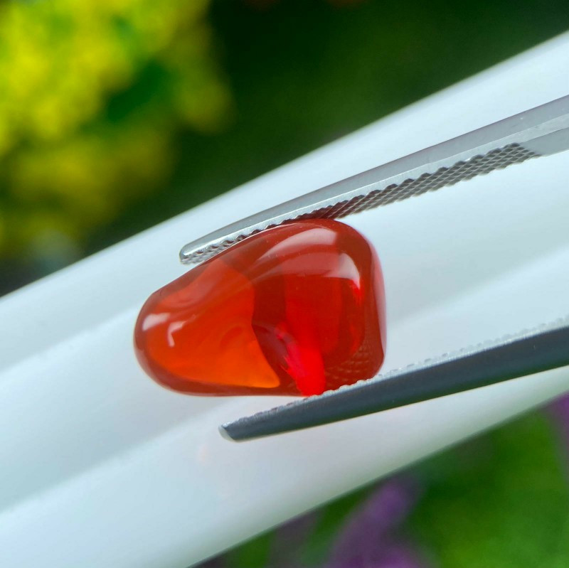 Fire Opal 3.78 Cts Red Polished Cut BGC1241