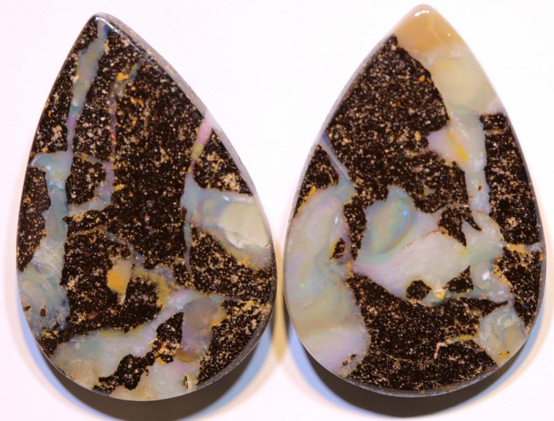 Boulder Opal Polished Pair AOH-300 - australianopalhunter