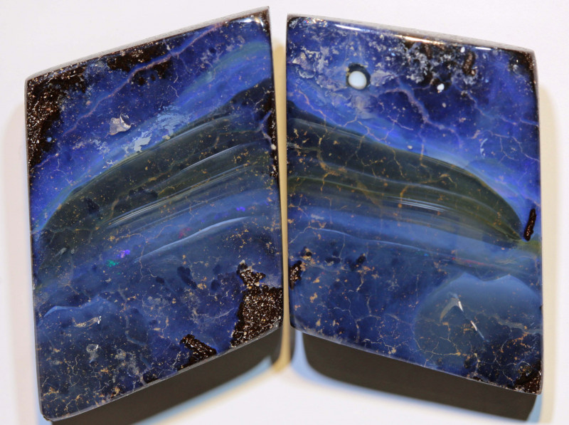 Boulder Opal Polished Pair 62 Carats AOH-304