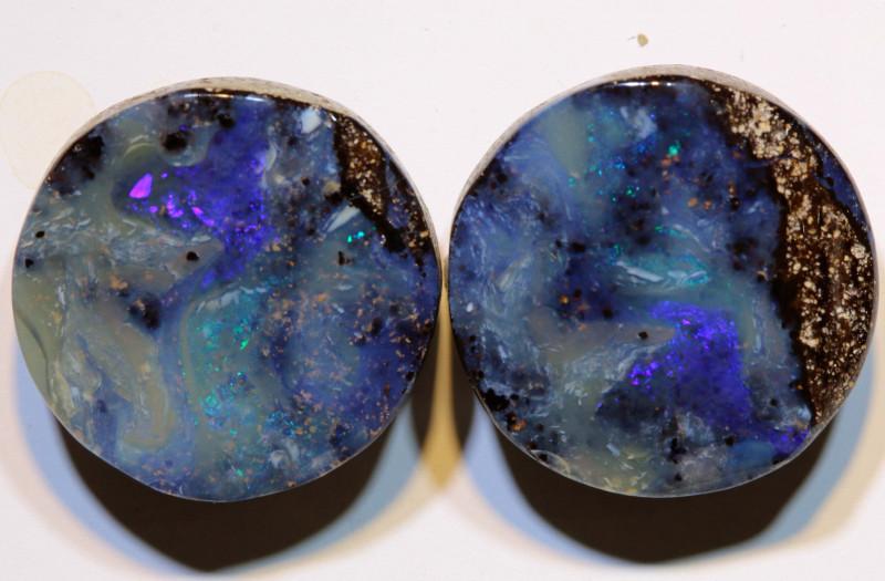 Boulder Opal Polished Pair 27 Carats AOH-315