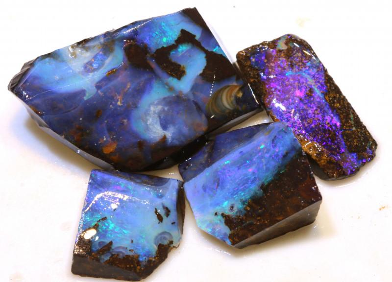 Boulder opal Rough Parcel DOP-132 - downunderopals