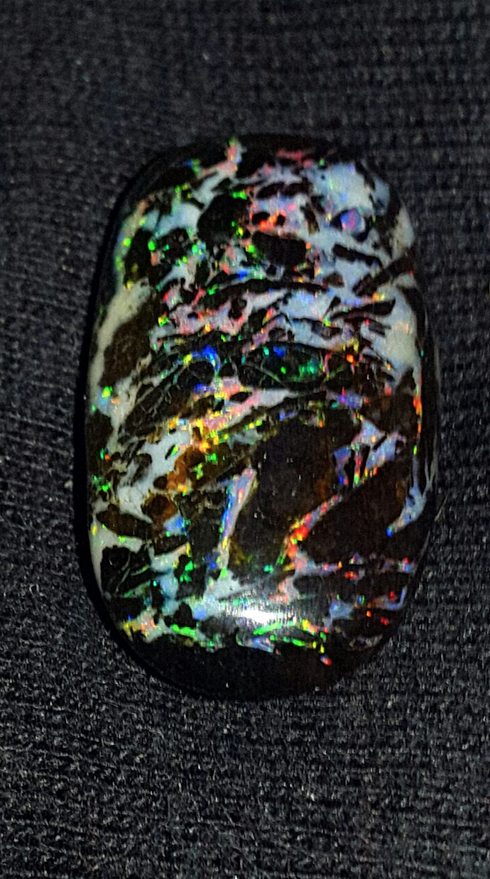9.00 CRT UNIQUE LEOPARD COLOR PATTERN INDONESIAN OPAL WOOD FOSSIL