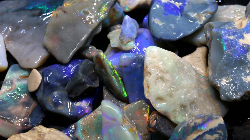 150cts lightning ridge black opal rough parcel ADO-8649-adopals