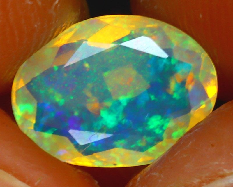 Welo Opal 1.15Ct Natural Ethiopian Play of Color Opal JF2420/A44