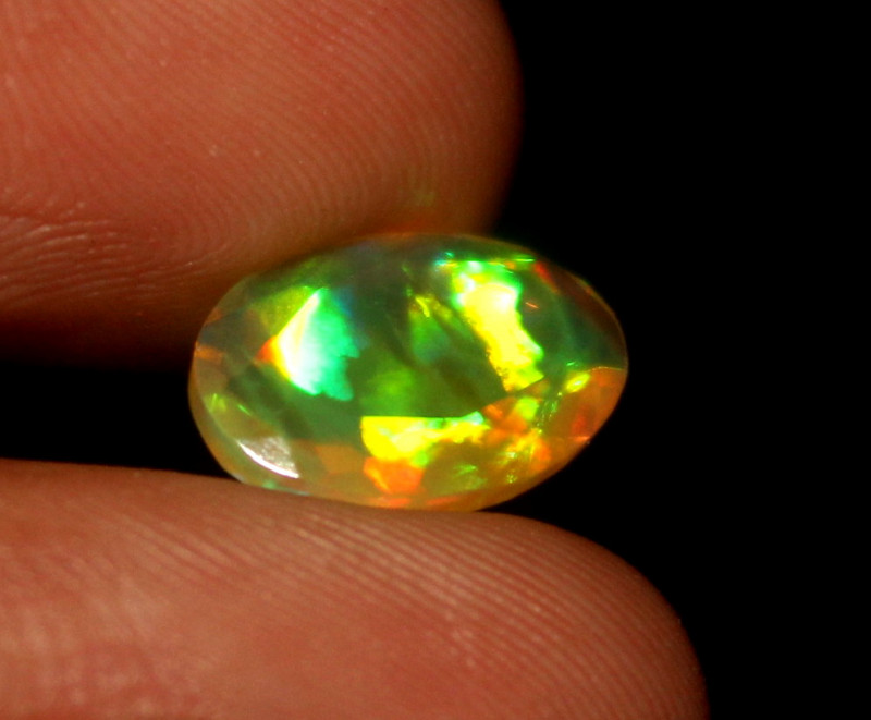 1.50 Crt Natural Ethiopian Welo Fire Faceted Opal 468