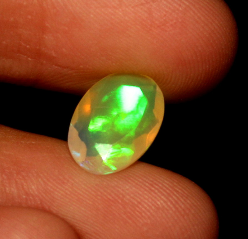 1.25 Crt Natural Ethiopian Welo Fire Faceted Opal 474