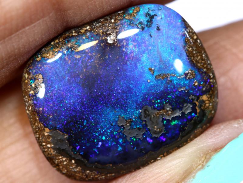 10.40 cts boulder opal polished cut stone  TBO-A3293-truelueopals