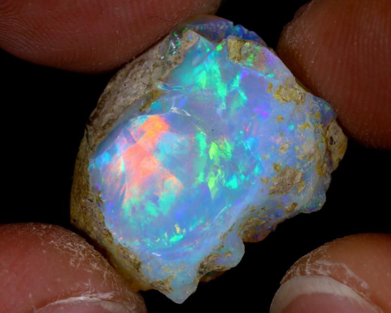 13cts Natural Ethiopian Welo Rough Opal / PA24