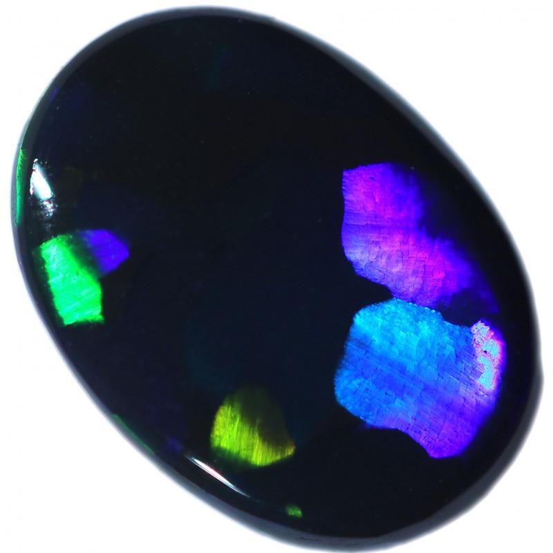 0.63 CTS BLACK OPAL STONE-FROM LIGHTNING RIDGE - [LRO2209]