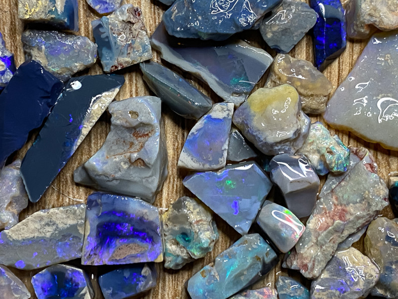 183.10 ct Opal Rough Lot Black Opals Lightning Ridge BORC250321