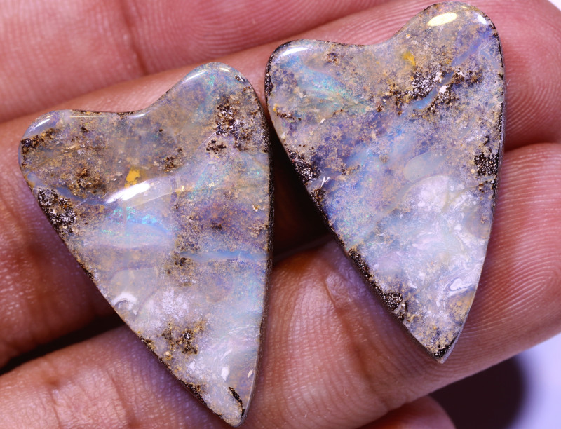 46.1 CTS QUALITY BOULDER OPAL PAIR EO-850