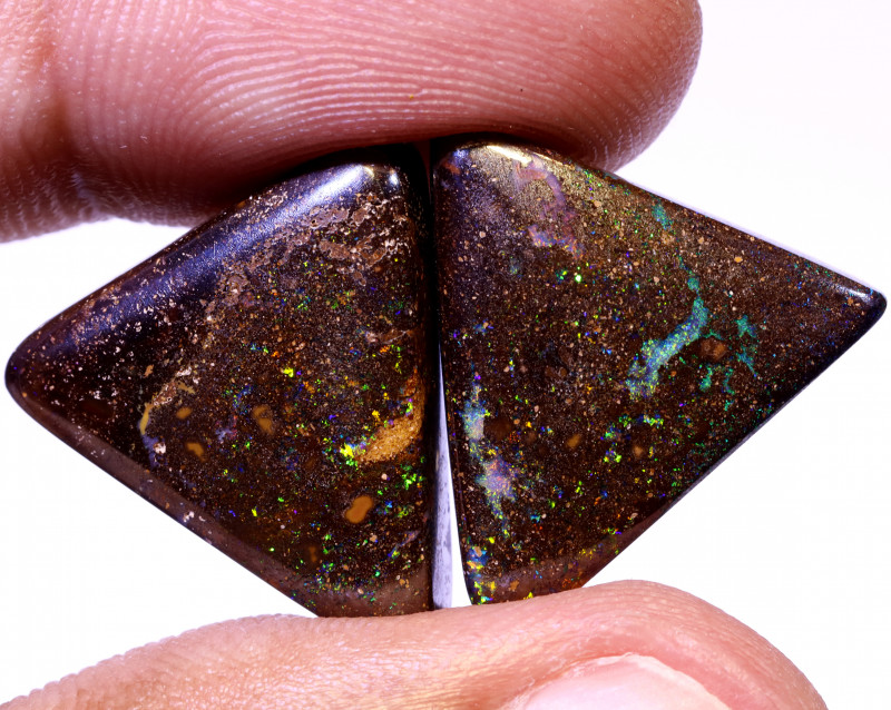 29 CTS QUALITY BOULDER OPAL PAIR EO-880