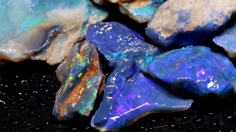 54.90cts Black Opal Rough Cutters Parcel DT-A4903