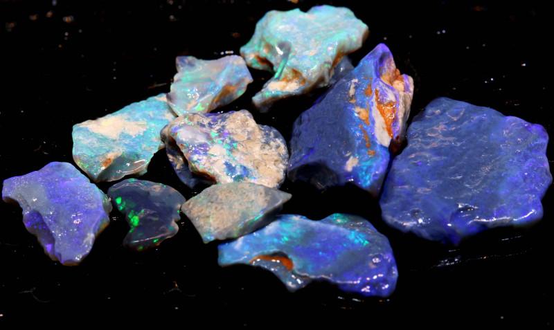 58.30cts Black Opal Rough Cutters Parcel DT-A4905