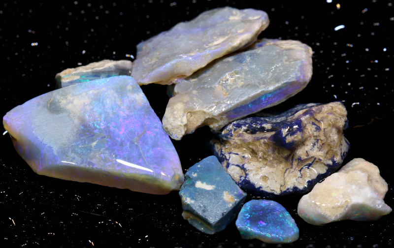 109CTS Dark Opal Rough Parcel Lightning Ridge  DT-1940