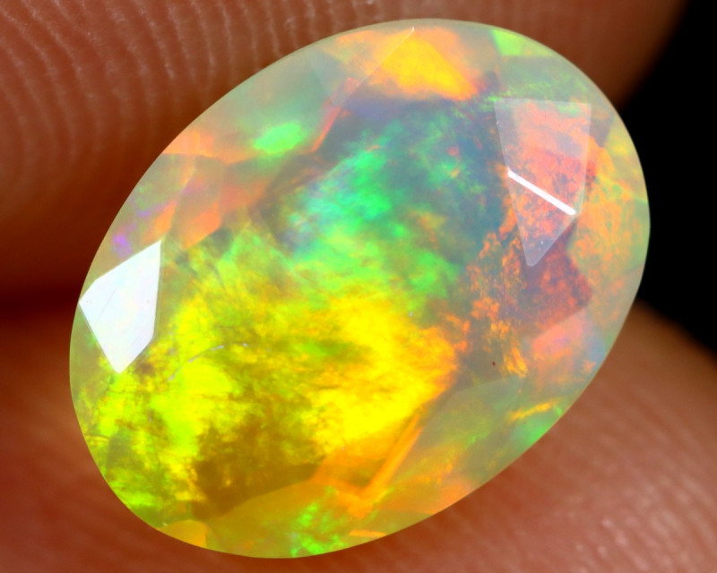1.27cts Natural Ethiopian Faceted Welo Opal /BF7140
